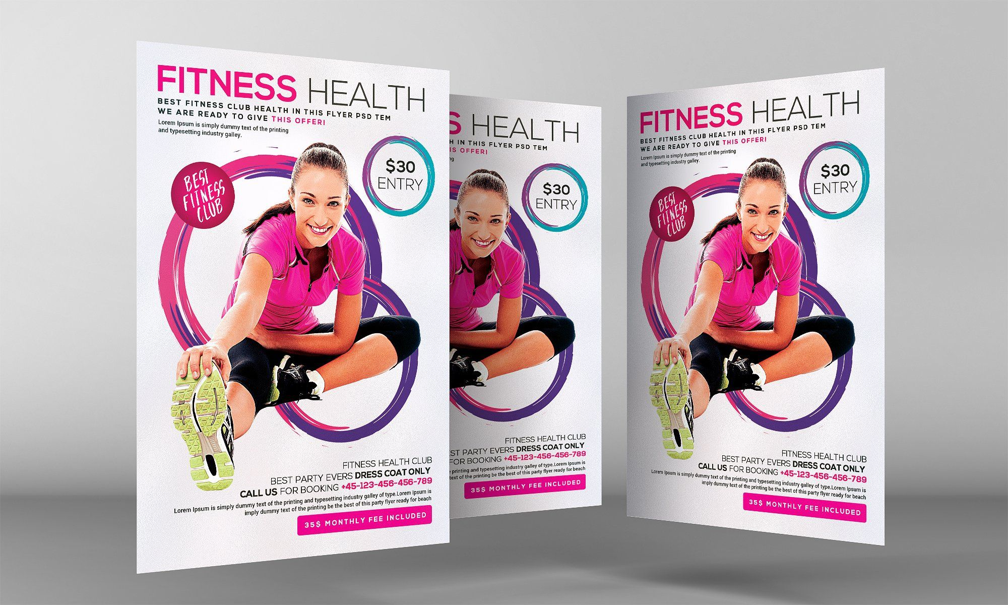 Fitness Bold Ebook Template By Providence Studio On