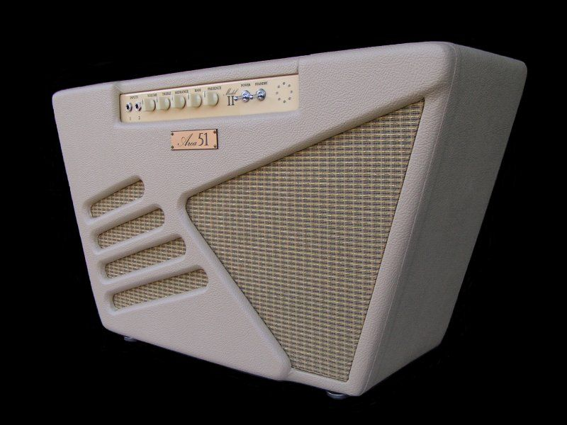 Area 51 S Ultra Cool Retro Futuristic Model Two Amplifier Apparently As Rare As Hen S Teeth A Beauty And Vintage Electric Guitars Cool Guitar Boutique Guitar