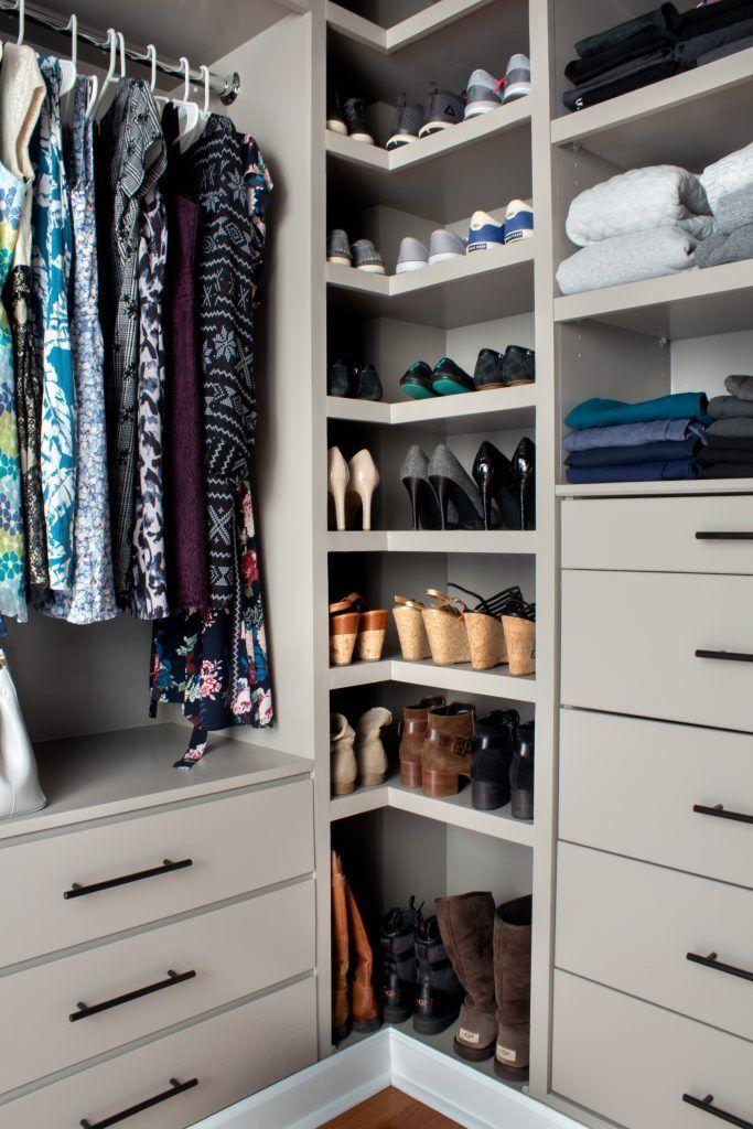 These closet organization ideas that will make getting dressed so much easier. #closetorganization #closet #closetstorage