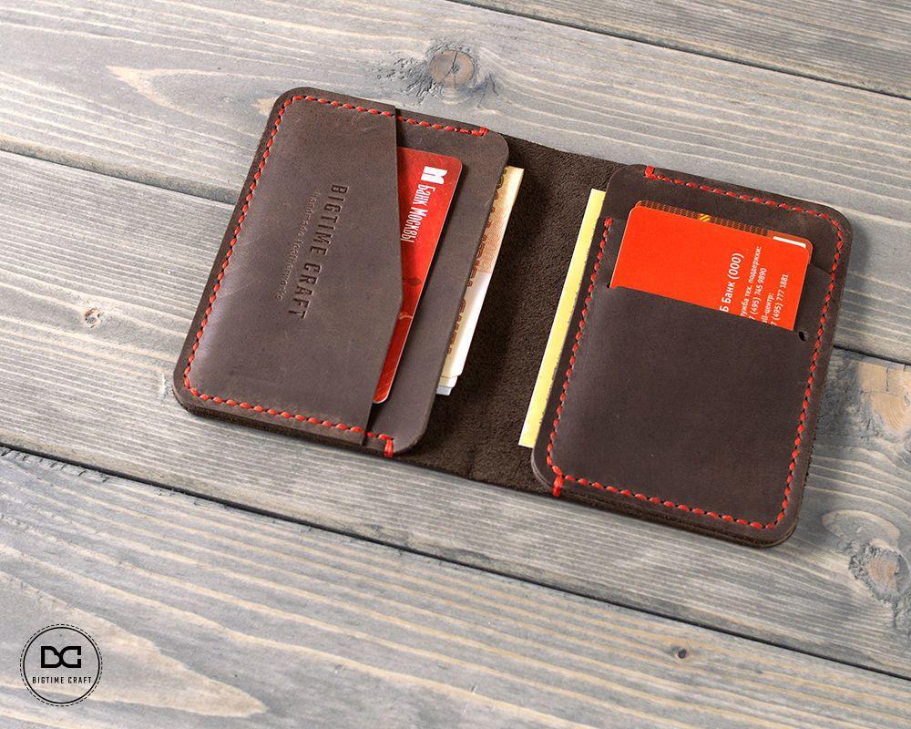 2ef8e73b31a1 Кошельки и визитницы ручной работы. Заказать Тонкий и компактный бумажник из  натуральной кожи. Влад