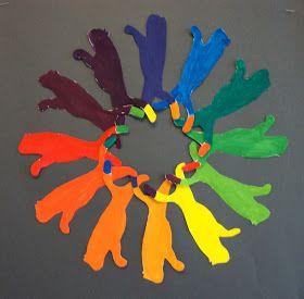 Art. Paper. Scissors. Glue!: Creative Color Wheel   Art ...