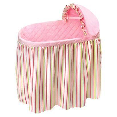 Badger Basket Embrace Bassinet Bedding Set - Stripes/Pink ...
