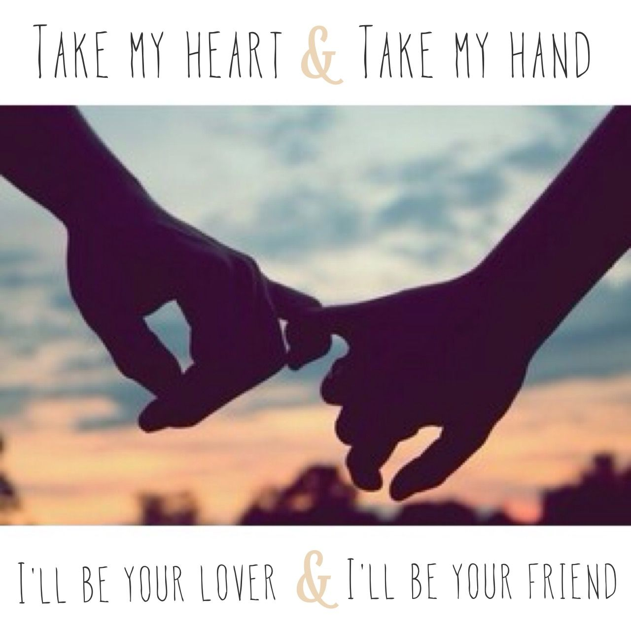 Be your friend and i ll be your lover