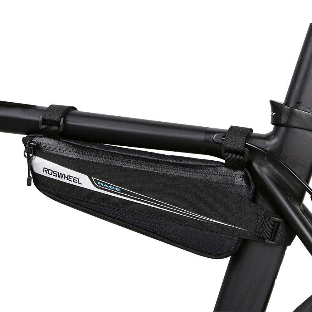 Black Front Triangle Bicycle Frame Bag Nylon