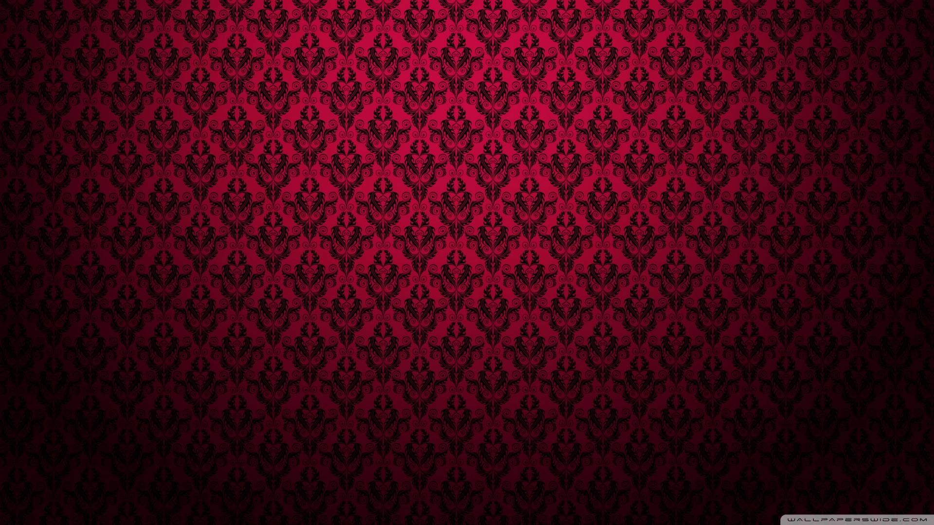 Home Wallpaper Pattern red and black damask pattern wallpaper home pinterest damask. red
