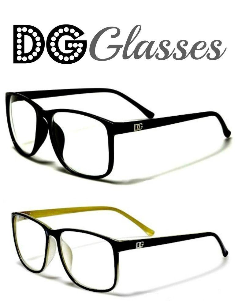 654a6fd8bf DG Designer Womens ROUND BLACK Frame CLEAR Glasses NERD SEXY HIPSTER  Eyeglasses  DGEyewear  Rectangular