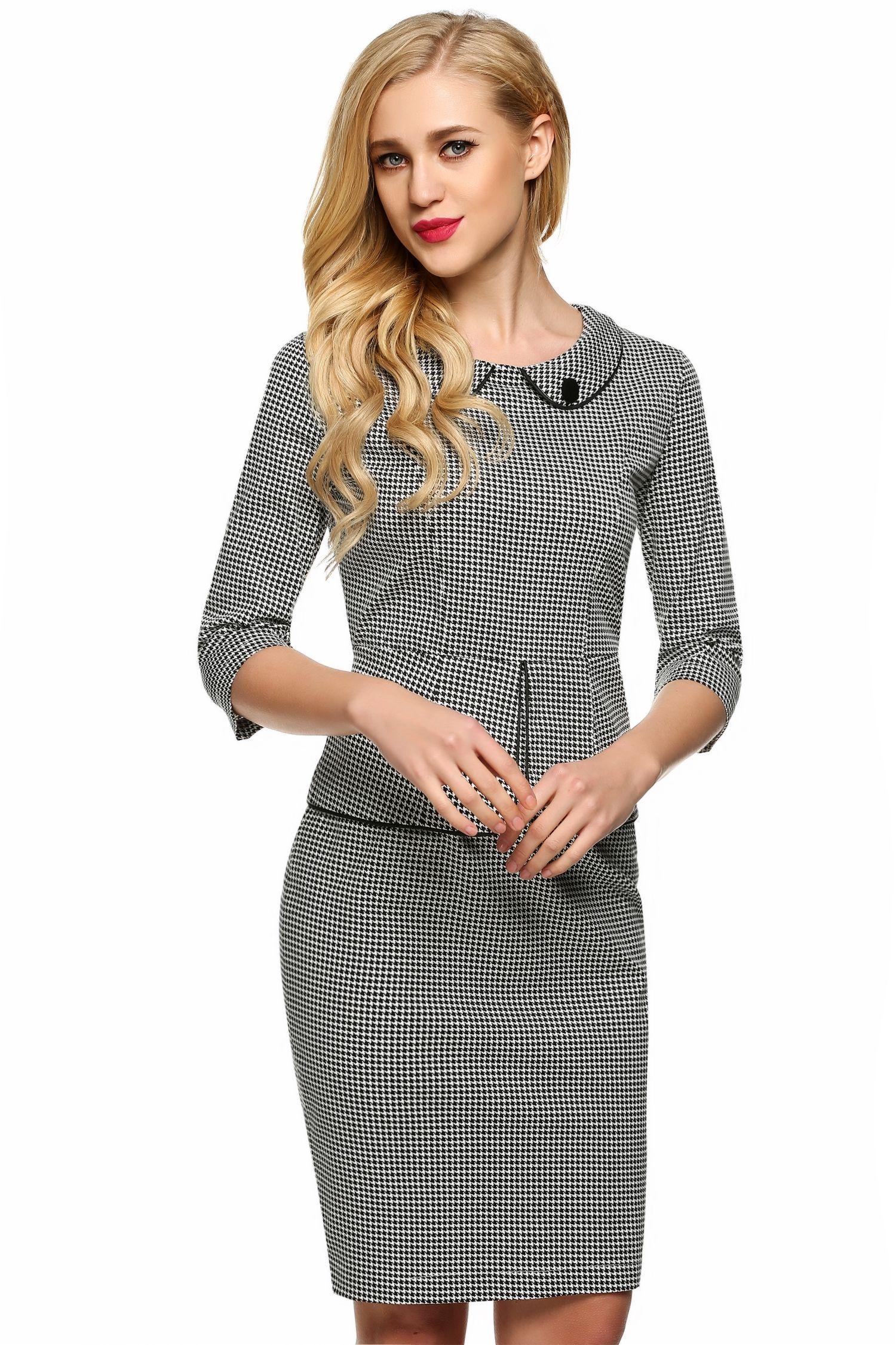 Grey Angvng Casual Women Dresses Dresses Casual Dresses For Women Elegant Dress [ 2250 x 1500 Pixel ]
