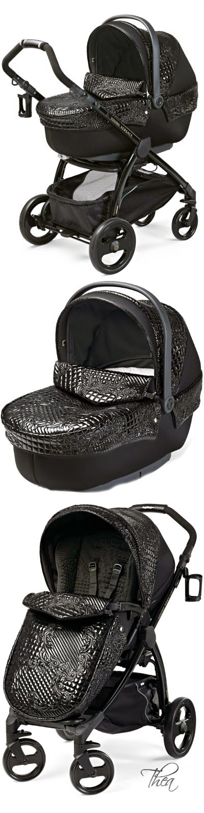 Young Versace ○ Black Stroller and Travel Set   Baby dreams   Baby ... 7c73b8cf20a