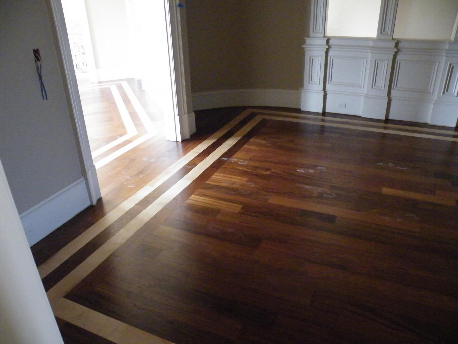 superior hardwood floor inlay designs #6: wood floor borders | Hardwood Floor Inlay - Flooring - Contractor Talk