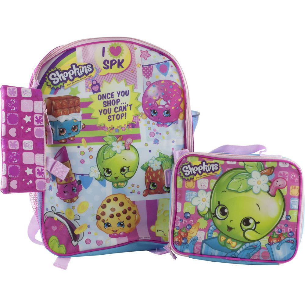 Shopkins School Backpack Book Bag & Soft