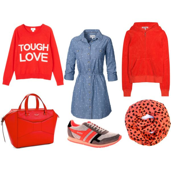 """""""Tough Coral Love Monday"""" by fashionmusingsdiary on Polyvore"""