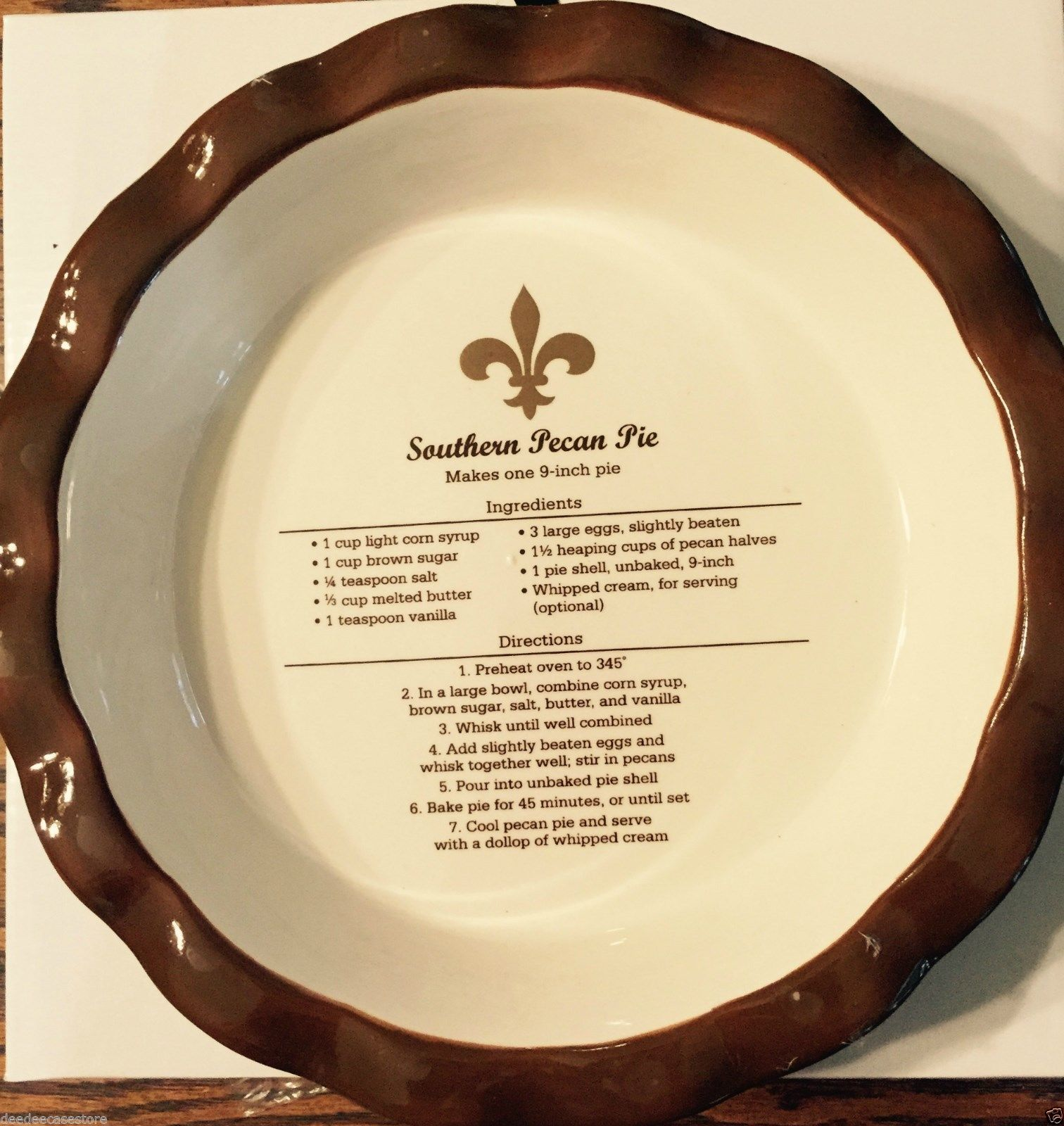 Pie Plate with Pecan Pie Recipe  sc 1 st  Pinterest : 6 inch pie plates - pezcame.com