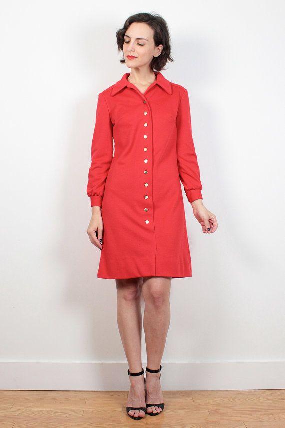 Vintage Red Mod Dress