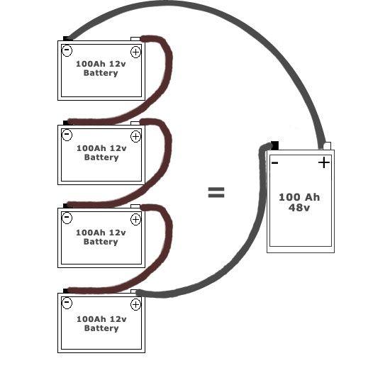 wiring multiple 6 volt batteries together |  24 volt