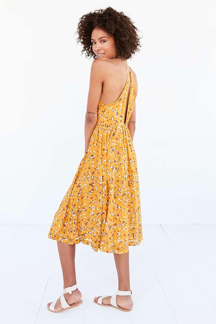 a3d18e9b0924 Kimchi Blue Cindy Ladder Lace Midi Dress - Urban Outfitters