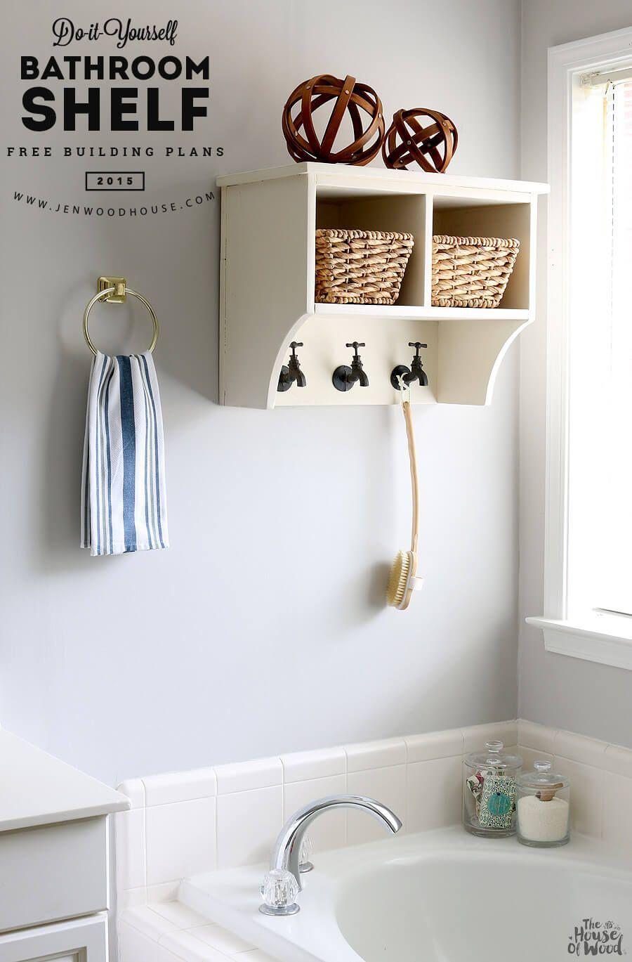 25+ Brilliant DIY Bathroom Shelf Ideas Sure To Redefine Savvy ...