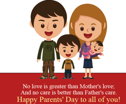 Charming Parents Day SMS Wishes Messages Status 2015 Images Pics Cards Dp Clipart
