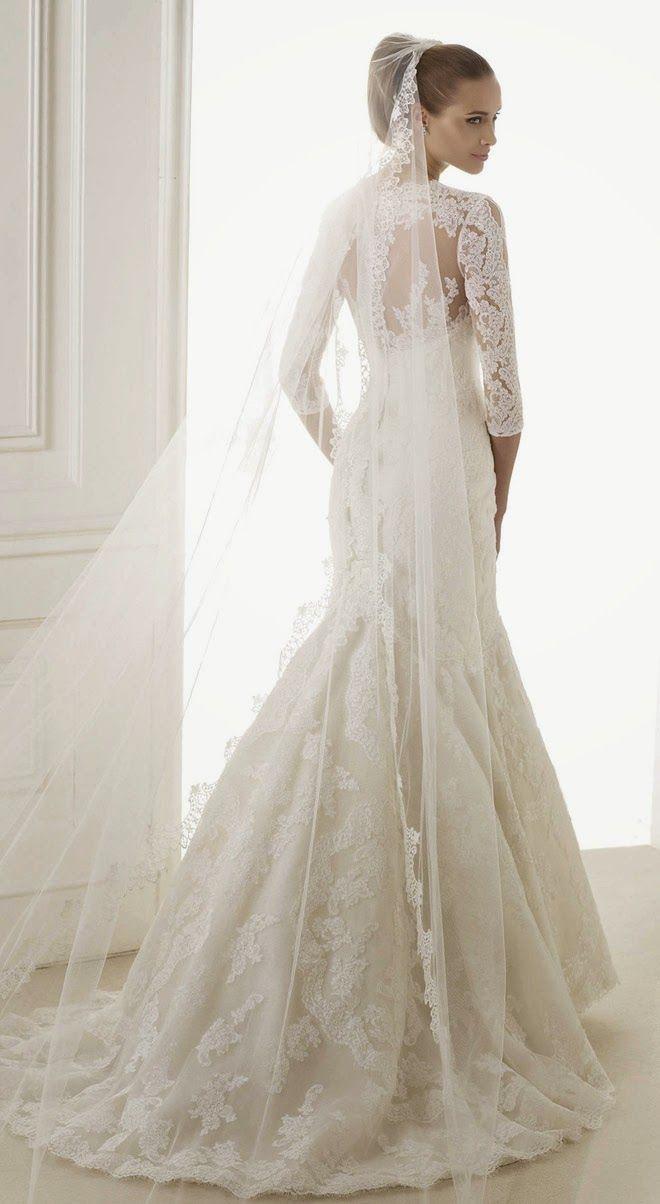 Sheath Wedding Dress : Pronovias 2015 Bridal | Wedding Dresses ...