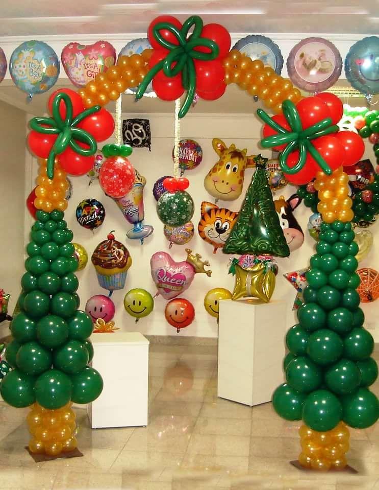 украшение школы к новому году воздушными шарами: 13 тыс