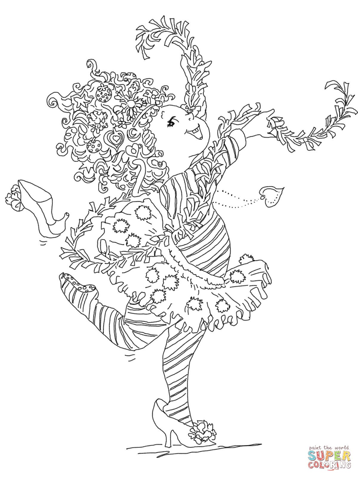 Fancy Nancy Super Coloring Colouring Book Pages Pinterest
