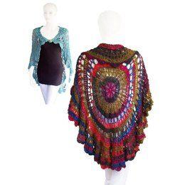 1c6ab6ae1 Bone Dance Creepy Skull Circle Vest Crochet pattern by Spider Mambo.  Babette Circle Shawl Crochet Vest Pattern