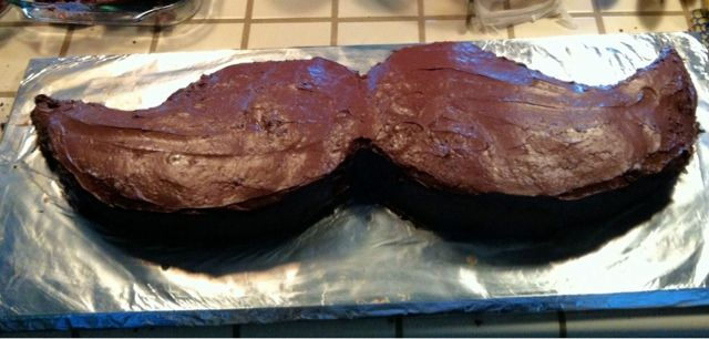 Giant Mustache Cake ~ Eight By Five