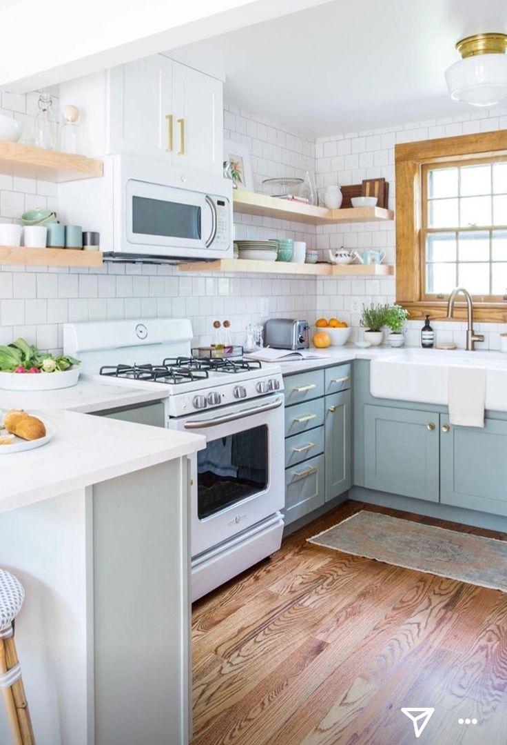 Corner open shelving. | kitchens | Pinterest | Open shelving, Corner ...