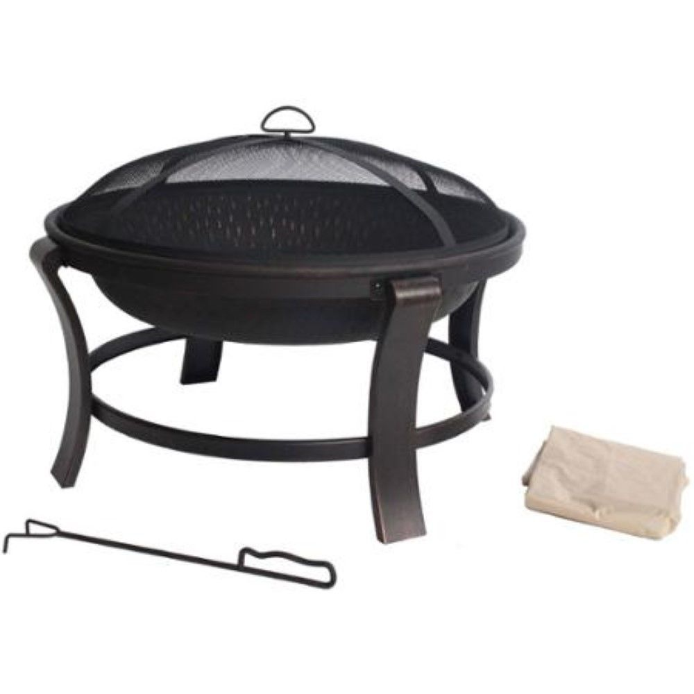 Metal Fire Pit Wood Burning Bowl Camp Bonfire Chimineas Patio Heater  Fireplace #Mainstays