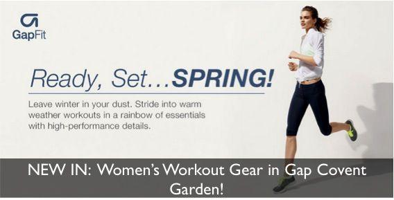 NEW IN: Women's Workout Gear in Gap Covent Garden!