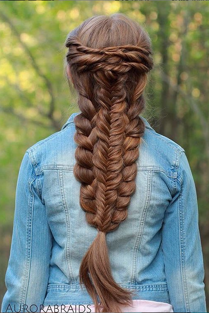 stunning layered braid recreation