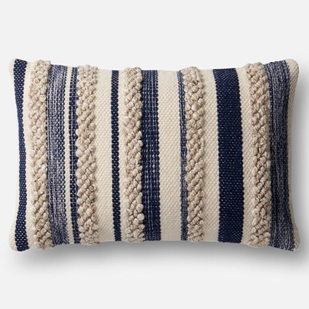 Loloi Magnolia Home Pillow Navy Ivory In 2019 Pillows