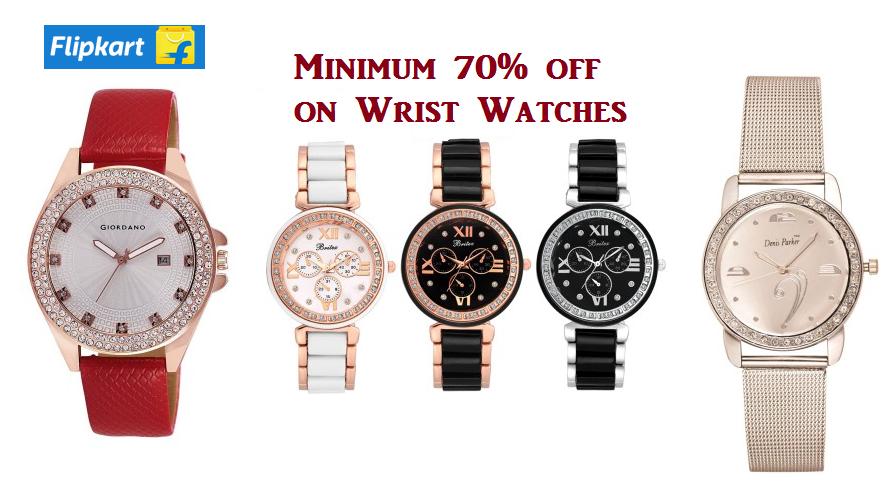 flipkart watches offer Get upto 70 off on Wrist watches