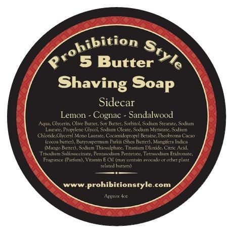 5 Butter Vegan High Lather Shave Soap 4oz With Tin  #prohibition #bearded #fashion #vintage #style #beard #retro #life