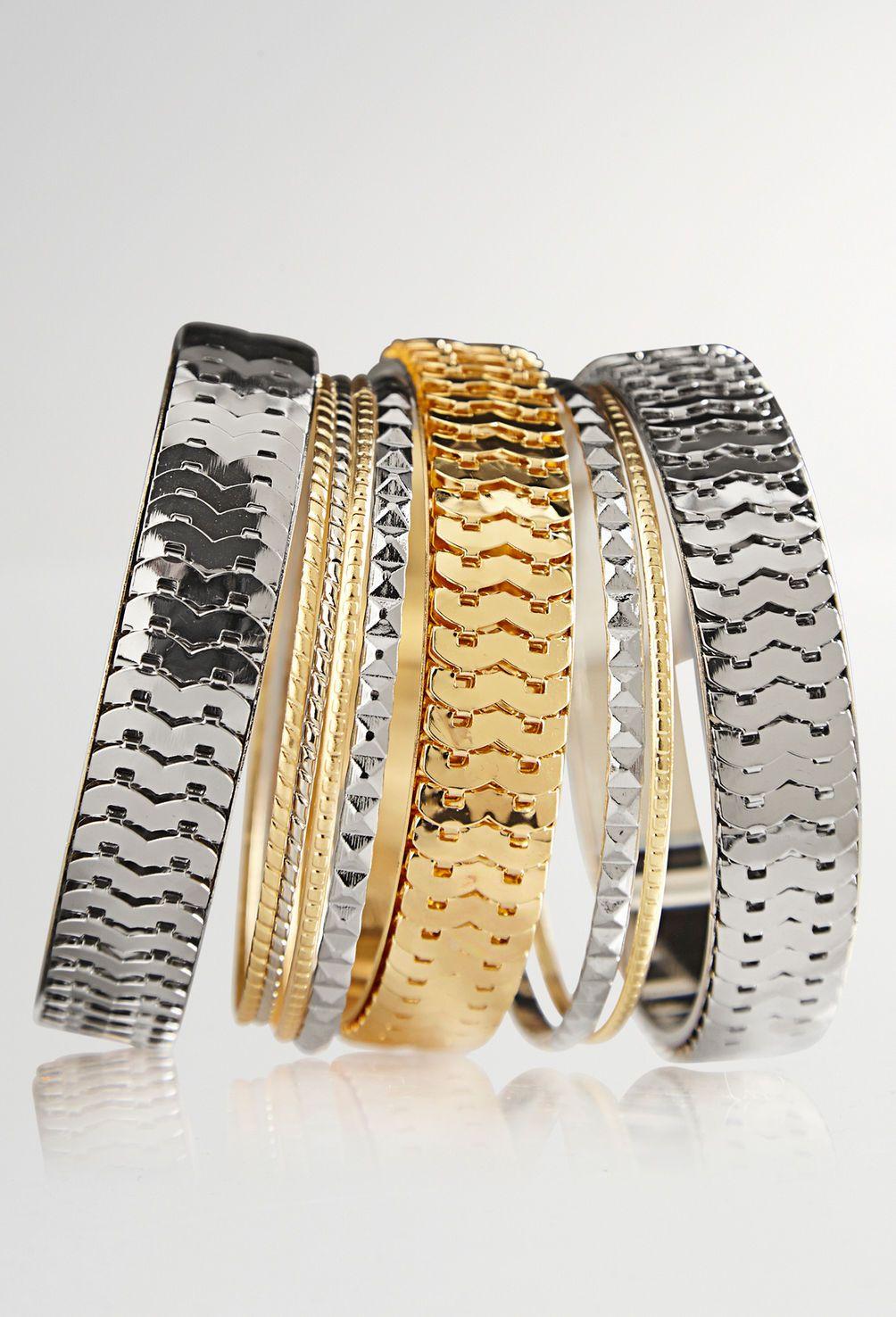 Mixed Stacked Bangle Bracelet Set Plus Size Bangles Avenue