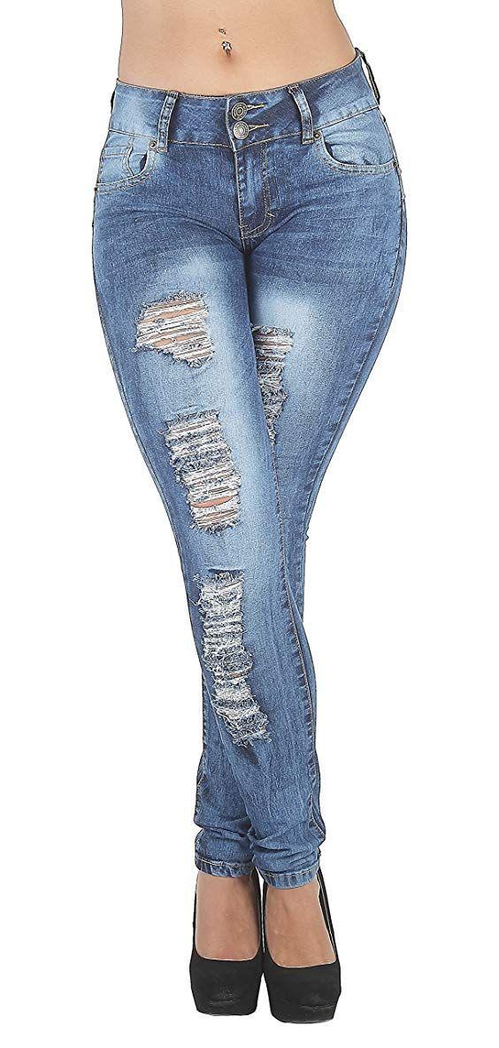 Photo of Jean strappato nella parte posteriore delle donne Jean Plus / Junior taglia strappato culo sollevamento in magro strappato distrutto