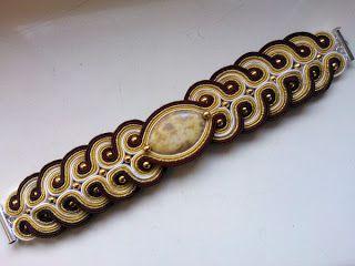 """Niepowtarzalna nietuzinkowa biżuteria sutasz-moje życie moja miłość: bransoleta sutasz """"Złoty Deszcz"""""""