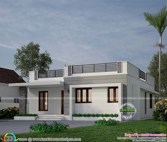 18 Lakhs Budget Estimated House In Kerala Bungalow House Design Modern Exterior House Designs House Designs Exterior