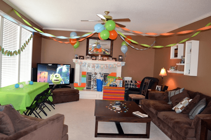 How To Decorate Living Room For Birthday Party On Budget Birthday Room Decorations Drawing Room Decor Popular Living Room