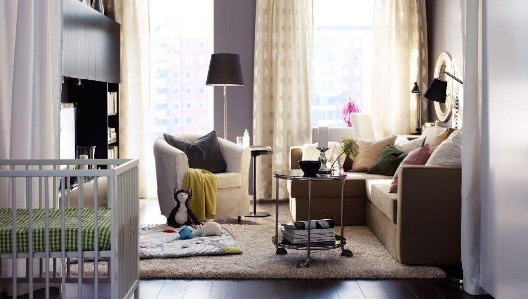 IKEA Österreich, Inspiration, Wohnzimmer, MÅNSTAD Eckbettsofa mit - wohnzimmer schwarz braun