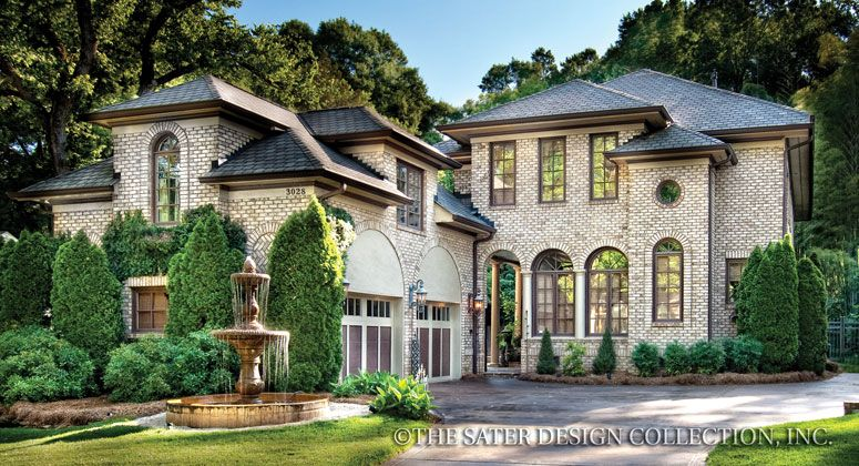 Luxury House Front wulfert point house plan | front elevation, luxury houses and house