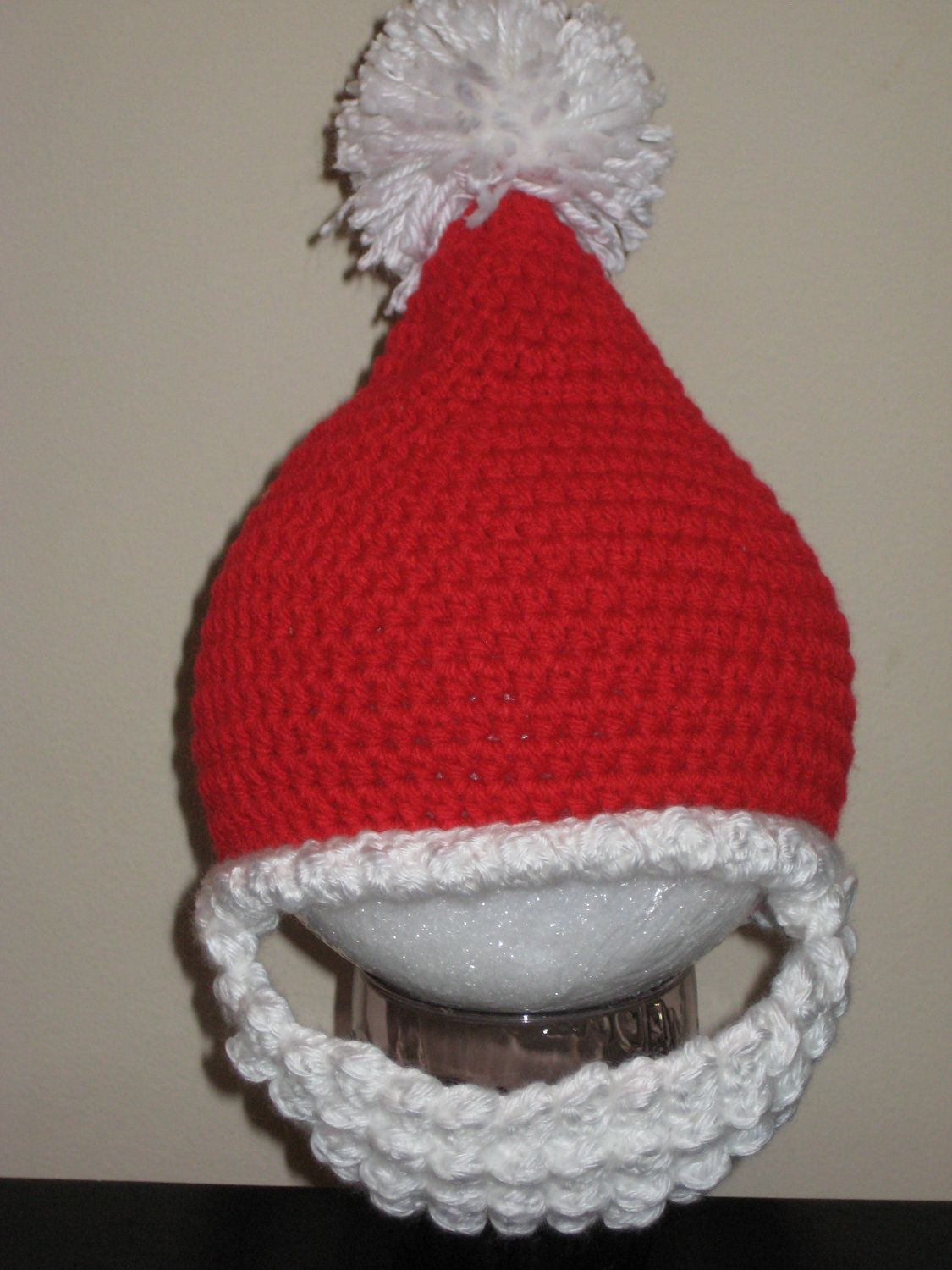 Santa Hat with Removable Beard. $15.00, via Etsy.