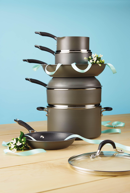 Nonstick Hard Anodized Cookware Set, Black