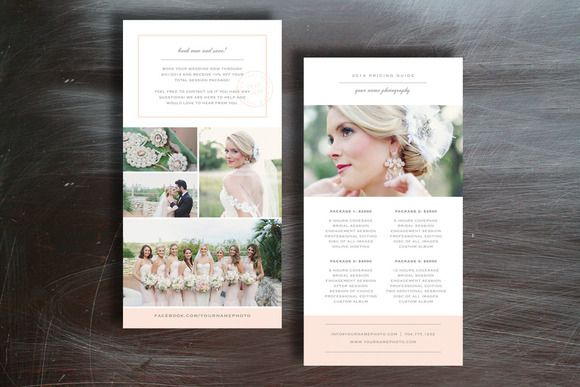 photographer pricing guide graphic design templates and brochures