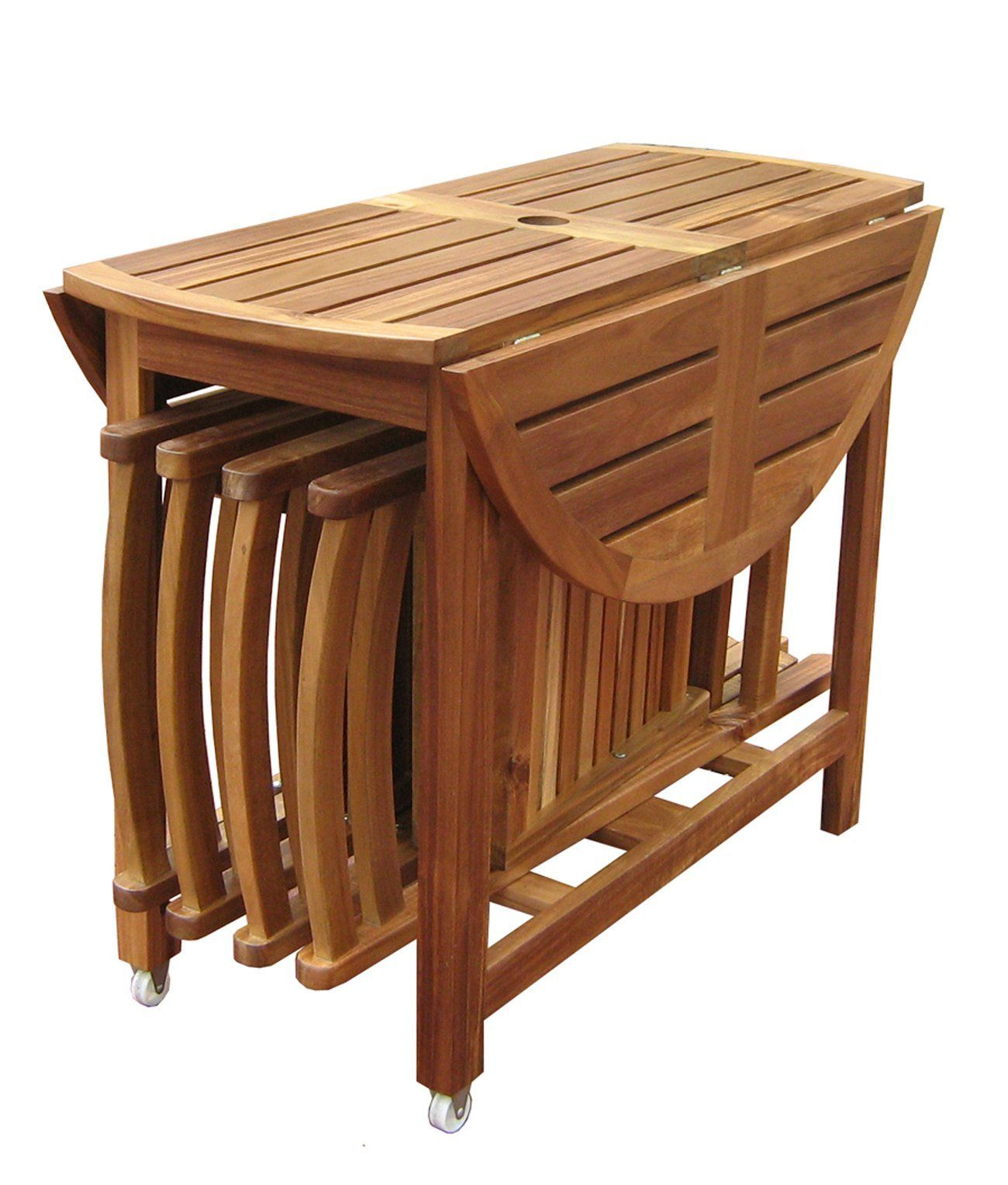 Acacia Folding Table And Chair Set The Sides Of The Acacia Table