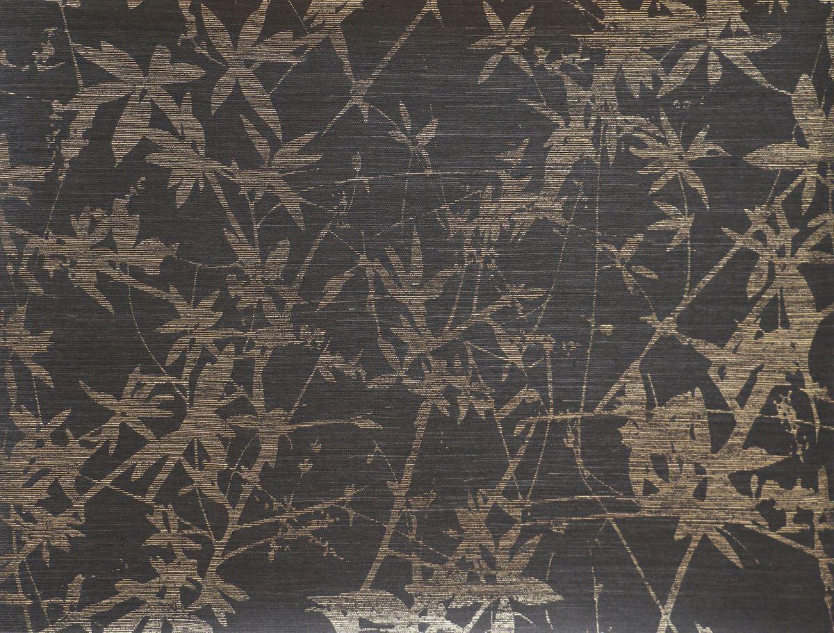 Candice Olson Sylvan Wallpaper Gold Black Grasscloth Wallpaper Wall Coverings Candice Olson Wallpaper