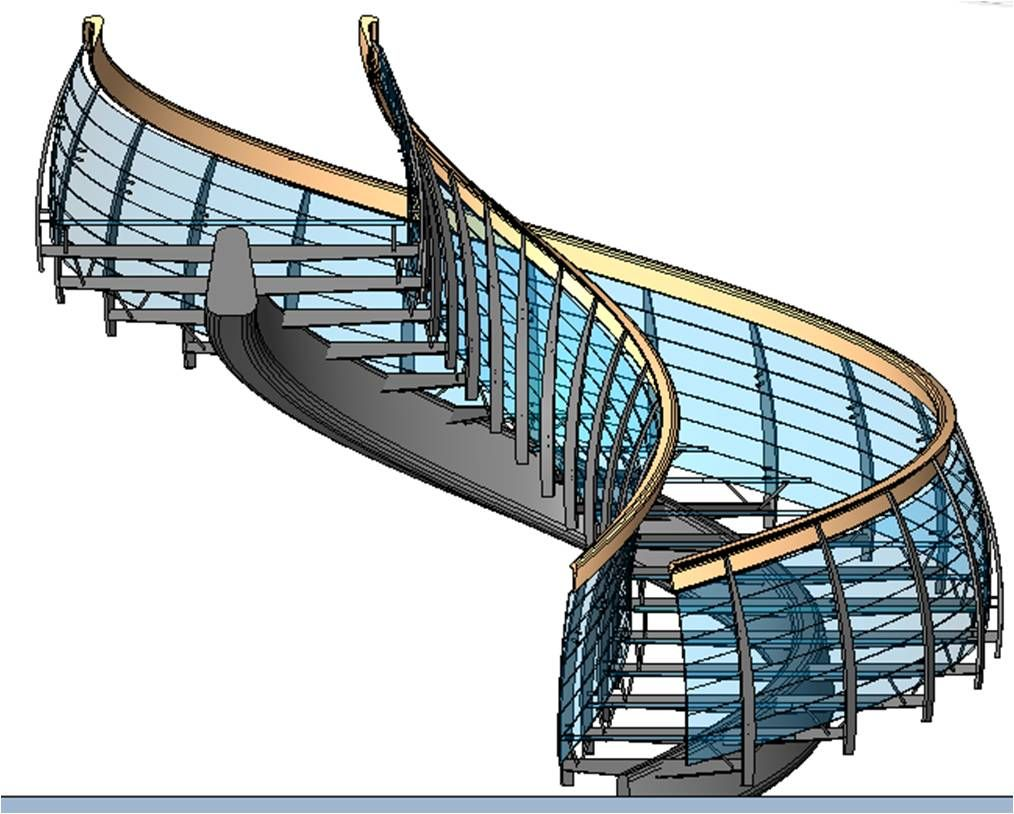 Complex Revit Stairs Stairs Pinned By Www Modlar Com