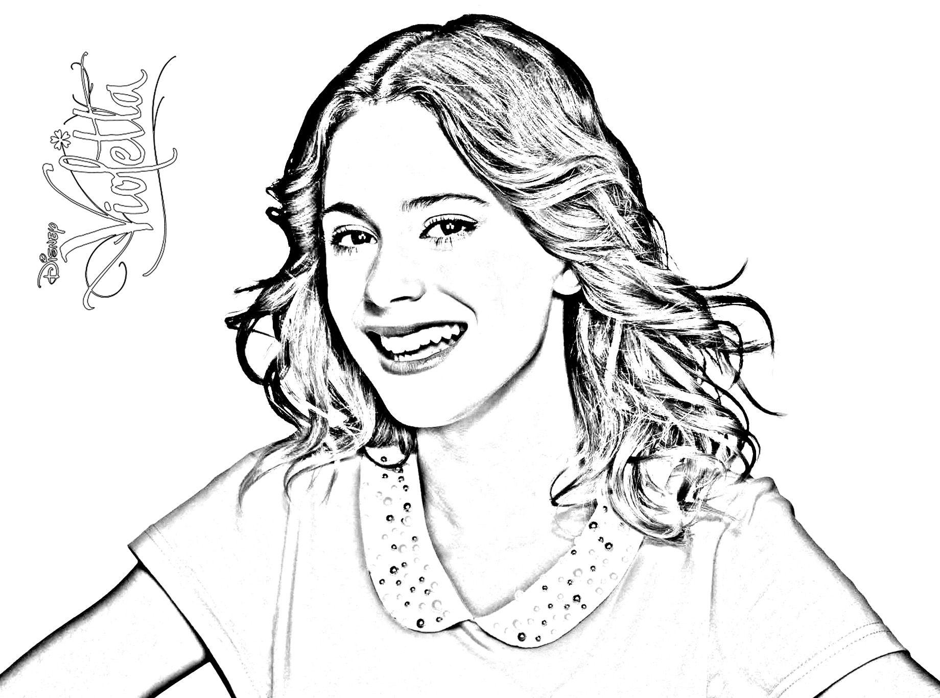 Dibujos Sin Colorear Dibujos De Violetta Disney Para: Violetta 2 Temporada Colouring Pages