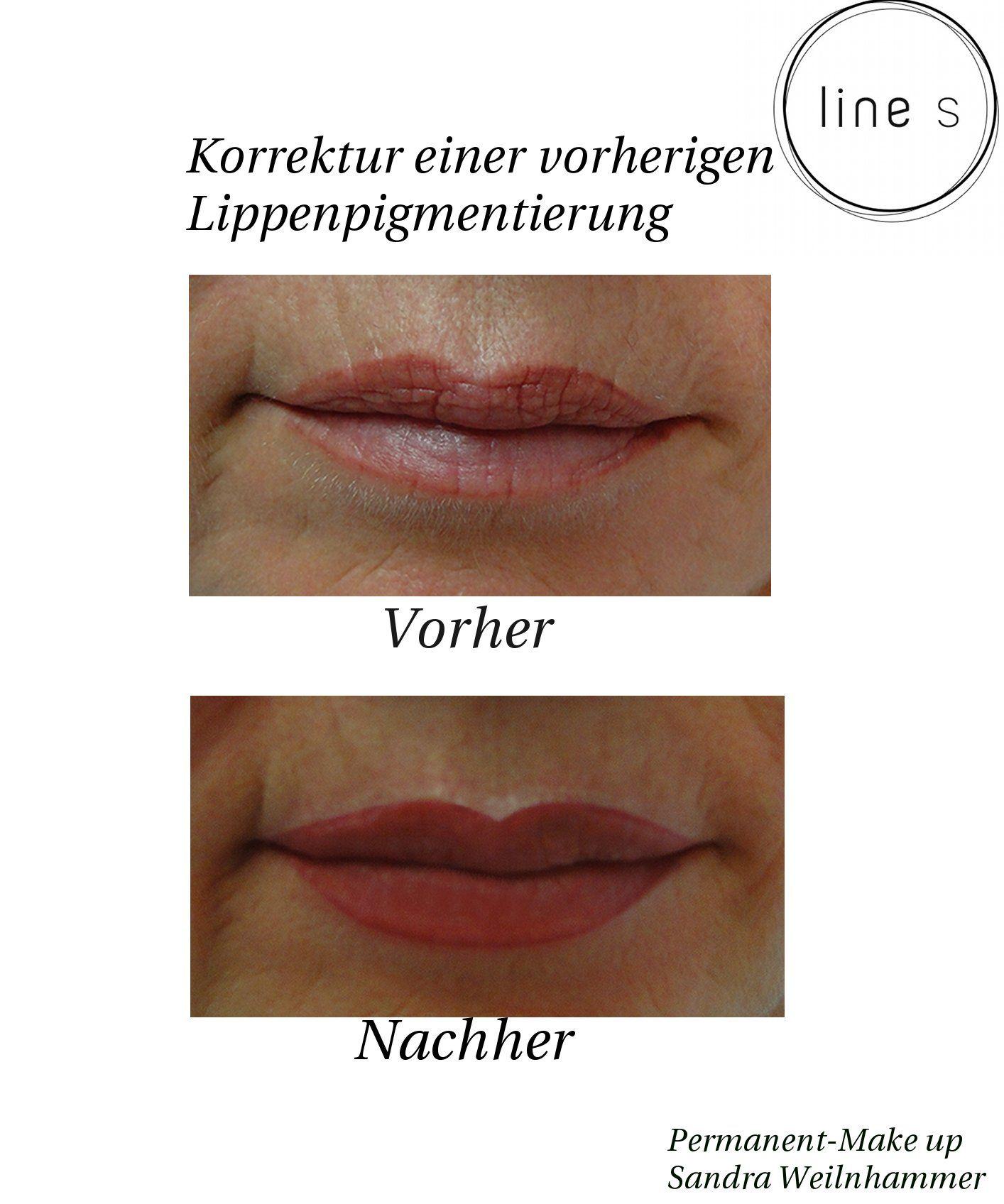 Lippenkorrektur Permanent Make Up Lippen Permanent Make Up Make Up Lippen Und Lippen Pigmentierung