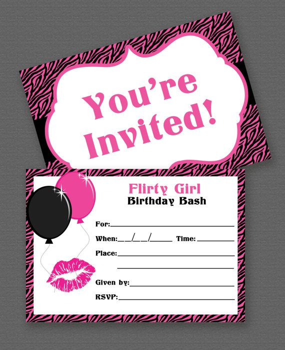 Printable Girl Birthday Invitations My Birthday Pinterest - free template for birthday invitation