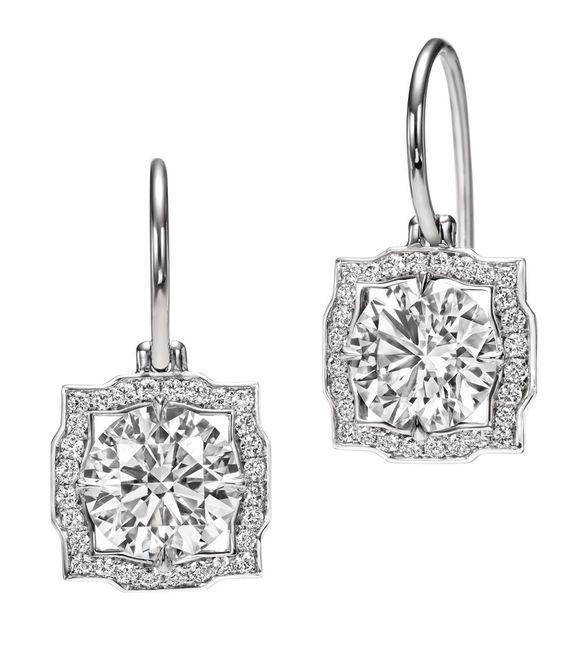 Harry Winston Belle earrings for the rehearsal dinner—–> yeah, definitely…